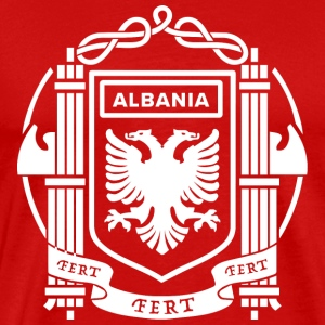 Albanian Flag White - Men's Premium T-Shirt