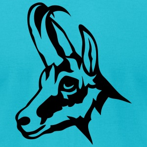 chamois wild animal 1102 T-Shirts - Men's T-Shirt by American Apparel
