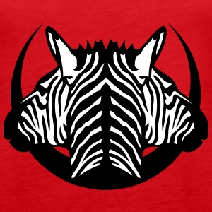 dual head zebra logo 5 Tanks - Women's Premium Tank Top