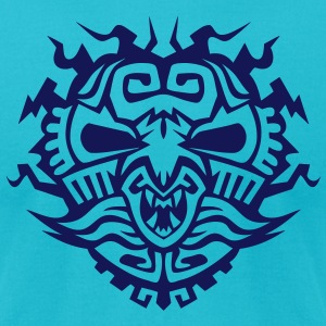 aztec totem mask monster 110098 T-Shirts - Men's T-Shirt by American Apparel