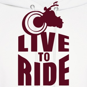 live to ride motorcycle biker 0 Hoodies - Men's Hoodie
