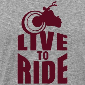 live to ride motorcycle biker 0 T-Shirts - Men's Premium T-Shirt