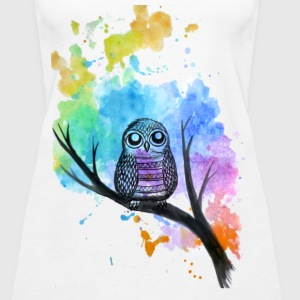 Watercolor Owl Tank top - Women's Premium Tank Top