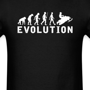 Snowmobile Evolution T-Shirt T-Shirts - Men's T-Shirt