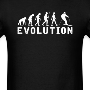 Skiing Evolution T-Shirt T-Shirts - Men's T-Shirt