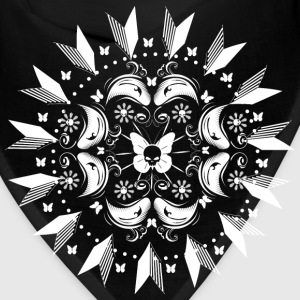 Butterflies with skull mandala Caps - Bandana