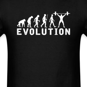 Weight Lifting Evolution Gym Workout T-Shirt - Men's T-Shirt