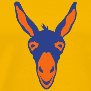 donkey animal head 106 T-Shirts - Men's Premium T-Shirt