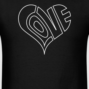 Men's Love Heart Outline Valentine's - Men's T-Shirt