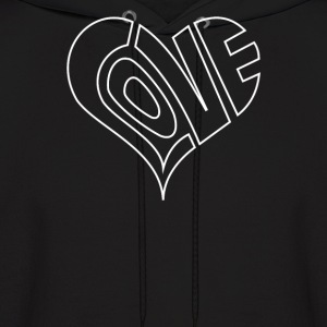 Men's Love Heart Outline Valentine's - Men's Hoodie