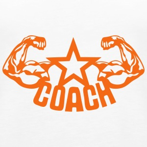 coach muscular arm 1 Tanks - Women's Premium Tank Top