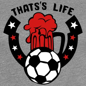 that life beer logo soccer 1 T-Shirts - Women's Premium T-Shirt