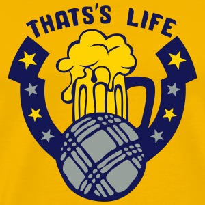 petanque boule that life beer logo 1 T-Shirts - Men's Premium T-Shirt