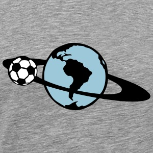 ring soccer blue planet earth turns 104 T-Shirts - Men's Premium T-Shirt