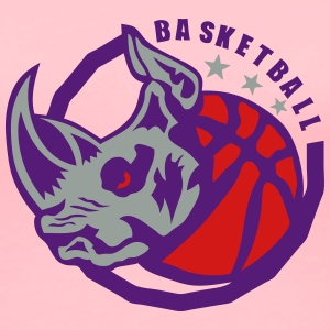 basketball club logo rhinoceros ball T-Shirts - Women's Premium T-Shirt