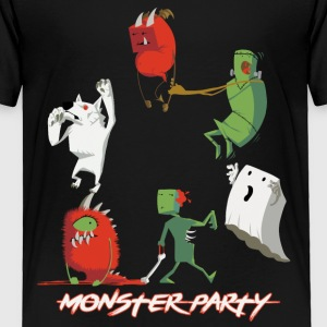 Halloween Cute Monster Party - Toddler Premium T-Shirt