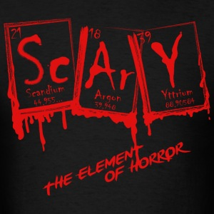 Halloween Scary Element Of Horror Periodic Table - Men's T-Shirt