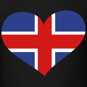 Iceland Heart; Love Iceland T-Shirts - Men's T-Shirt