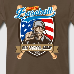 Commie Baseball: Old School Army - Men's Premium T-Shirt
