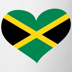 Jamaica Heart; Love Jamaica Mugs & Drinkware - Coffee/Tea Mug