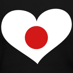 Japan Heart; Love Japan Long Sleeve Shirts - Women's Long Sleeve Jersey T-Shirt