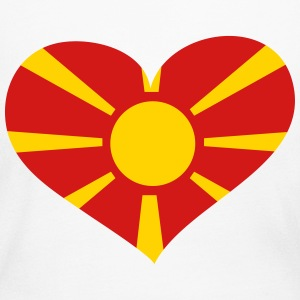 Macedonia Heart; Love Macedonia Long Sleeve Shirts - Women's Long Sleeve Jersey T-Shirt