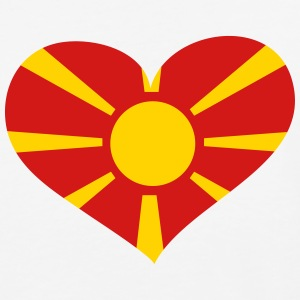 Macedonia Heart; Love Macedonia T-Shirts - Baseball T-Shirt
