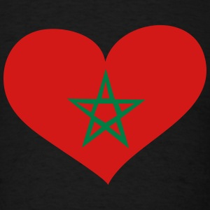 Morocco Heart; Love Morocco T-Shirts - Men's T-Shirt