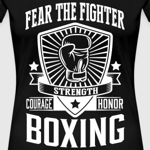 boxing: fear the fighter T-Shirts - Women's Premium T-Shirt