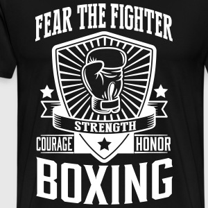 boxing: fear the fighter T-Shirts - Men's Premium T-Shirt