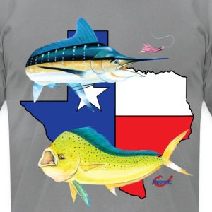 Texas Marlin and Dolphin  T-Shirts - Men's T-Shirt by American Apparel