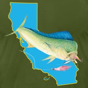 California Dolphin Lures Hookat.png T-Shirts - Men's T-Shirt by American Apparel