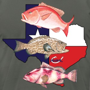 Texas Snapper and Grouper T-Shirts - Men's T-Shirt by American Apparel