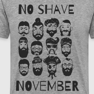 No shave november - Men's Premium T-Shirt