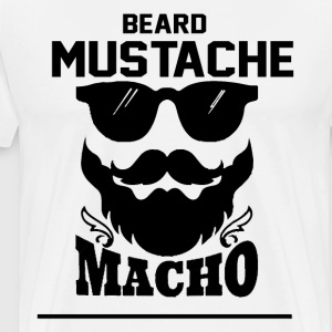 Beard mustache macho - Men's Premium T-Shirt