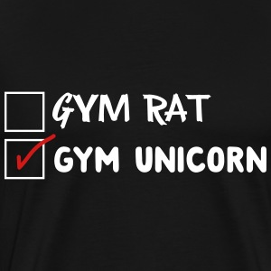Gym Rat. Not Gym Unicorn T-Shirts - Men's Premium T-Shirt