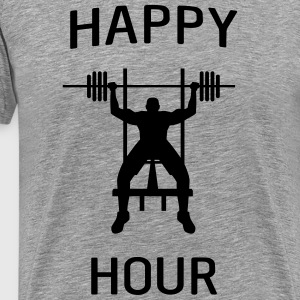Bench Press Happy Hour T-Shirts - Men's Premium T-Shirt
