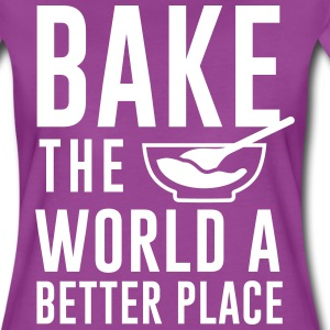 Bake the world a better place T-Shirts - Women's Premium T-Shirt