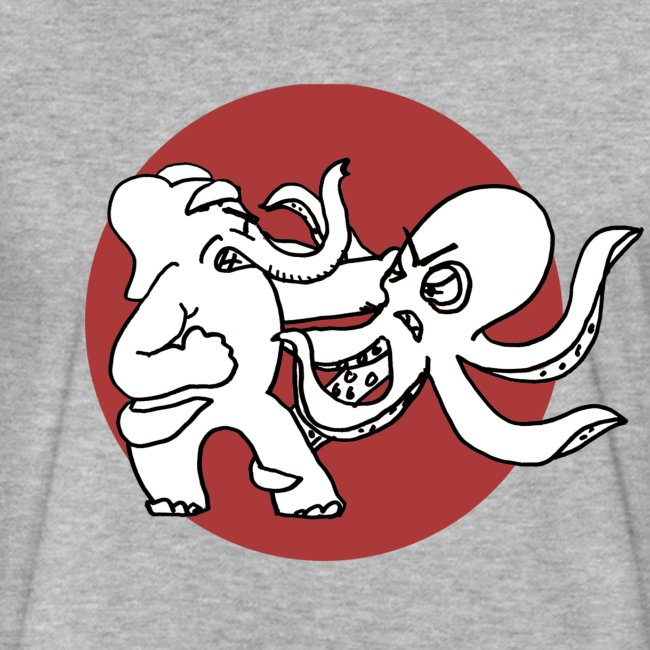 Fancy Elephant V. Octopus Shirt - Unisex