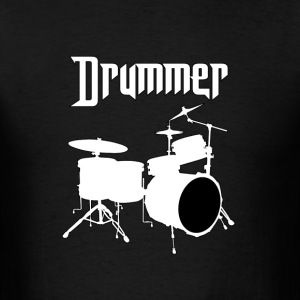 Drummer white - Men's T-Shirt