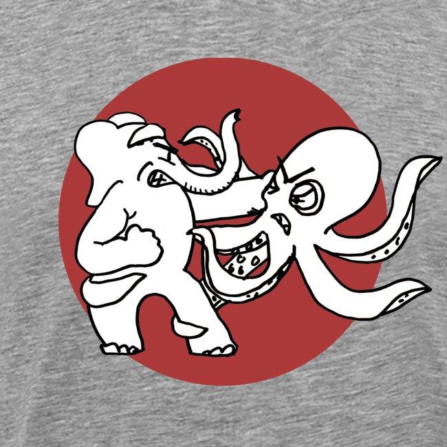 Normal Cotton Elephant V. Octopus Shirt