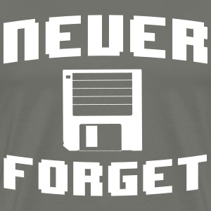 Never forget floppy disk T-Shirts - Men's Premium T-Shirt