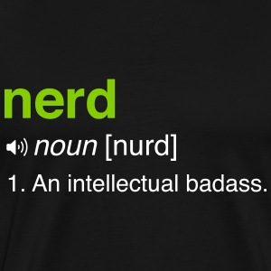 Funny Nerd Definition T-Shirts - Men's Premium T-Shirt