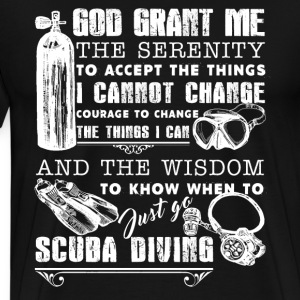 Scuba Serenity Prayer - Men's Premium T-Shirt