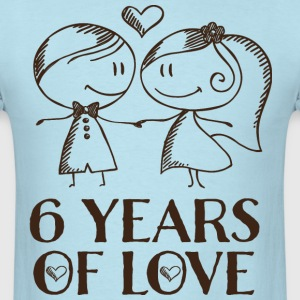 6th Anniversary 6 Years T-Shirts - Men's T-Shirt