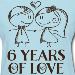 6th Anniversary 6 Years T-Shirts - Women's T-Shirt