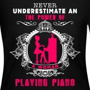 Woman Playing Piano Shirt - Women's Long Sleeve Jersey T-Shirt