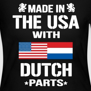 USA With Dutch Parts - Women's Long Sleeve Jersey T-Shirt