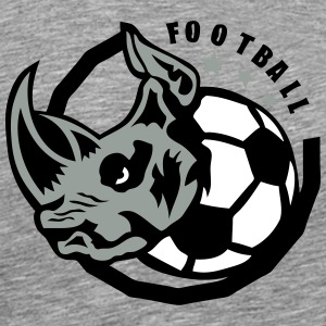 rhinoceros soccer ball club logo T-Shirts - Men's Premium T-Shirt