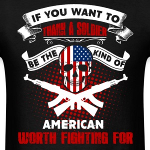 Thank A Soldier Shirt - Men's T-Shirt